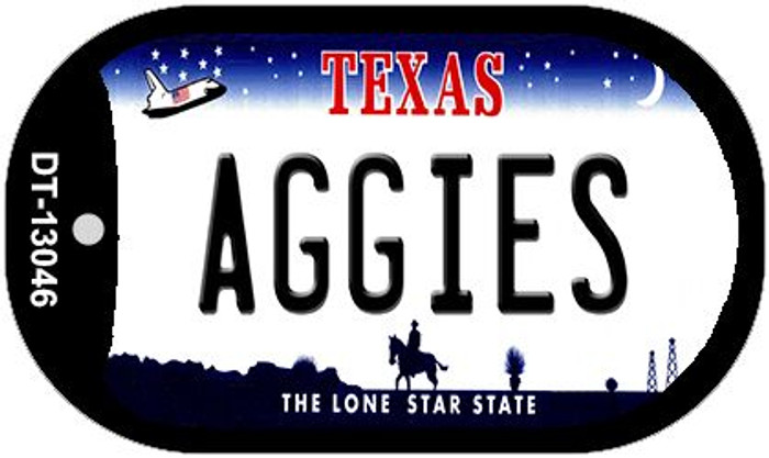 Aggies Novelty Metal Dog Tag Necklace DT-13046