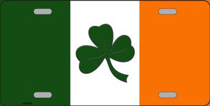 Shamrock Irish Flag Metal Novelty License Plate LP-6885