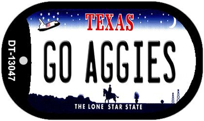 Go Aggies Novelty Metal Dog Tag Necklace DT-13047