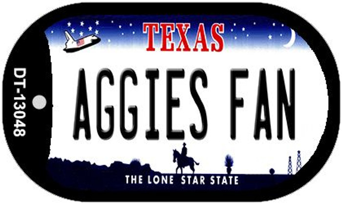 Aggies Fan Novelty Metal Dog Tag Necklace DT-13048