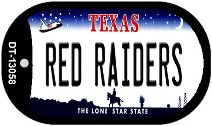 Red Raiders Novelty Metal Dog Tag Necklace DT-13058