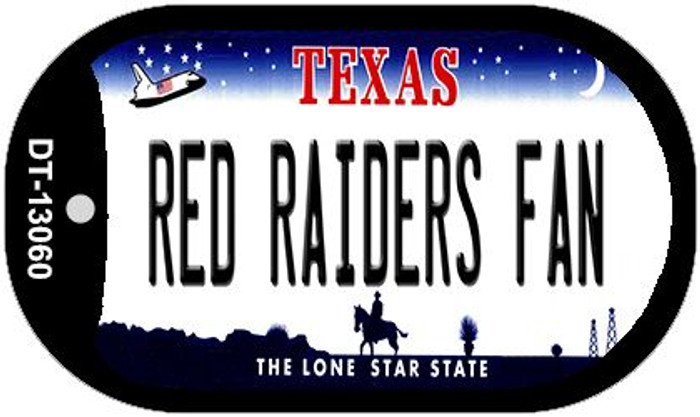 Red Raiders Fan Novelty Metal Dog Tag Necklace DT-13060