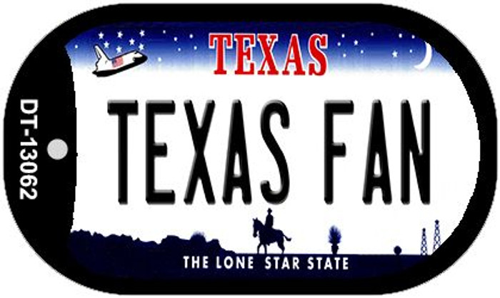 Texas Fan Novelty Metal Dog Tag Necklace DT-13062