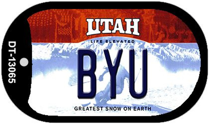 BYU Novelty Metal Dog Tag Necklace DT-13065