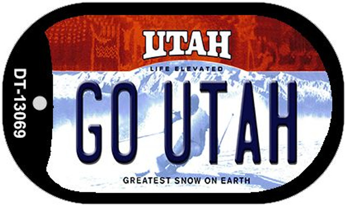 Go Utah Novelty Metal Dog Tag Necklace DT-13069