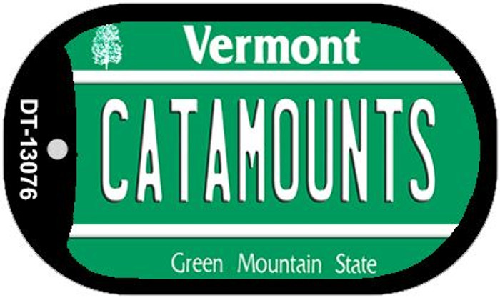 Catamounts Novelty Metal Dog Tag Necklace DT-13076