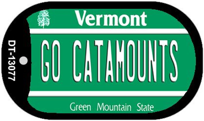 Go Catamounts Novelty Metal Dog Tag Necklace DT-13077