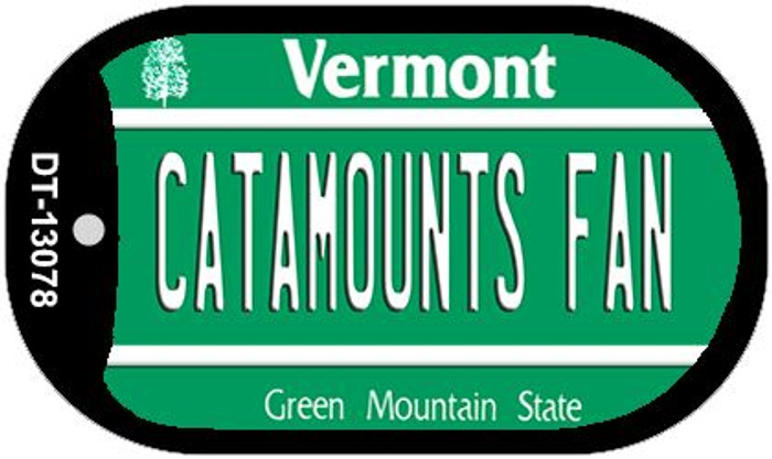 Catamounts Fan Novelty Metal Dog Tag Necklace DT-13078