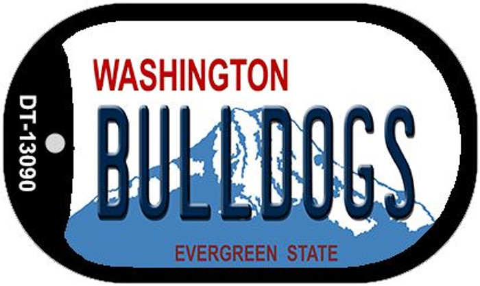 Bulldogs Novelty Metal Dog Tag Necklace DT-13090