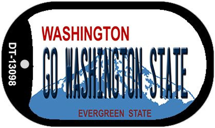 Go Washington State Novelty Metal Dog Tag Necklace DT-13098