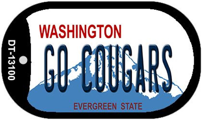 Go Cougars Novelty Metal Dog Tag Necklace DT-13100