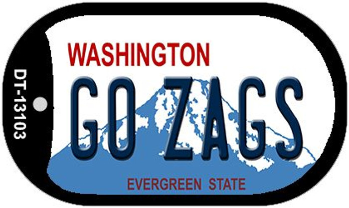 Go Zags Novelty Metal Dog Tag Necklace DT-13103