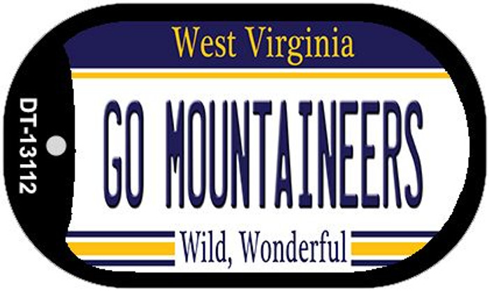 Go Mountaineers Novelty Metal Dog Tag Necklace DT-13112