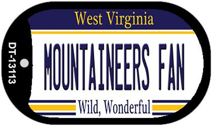 Mountaineers Fan Novelty Metal Dog Tag Necklace DT-13113