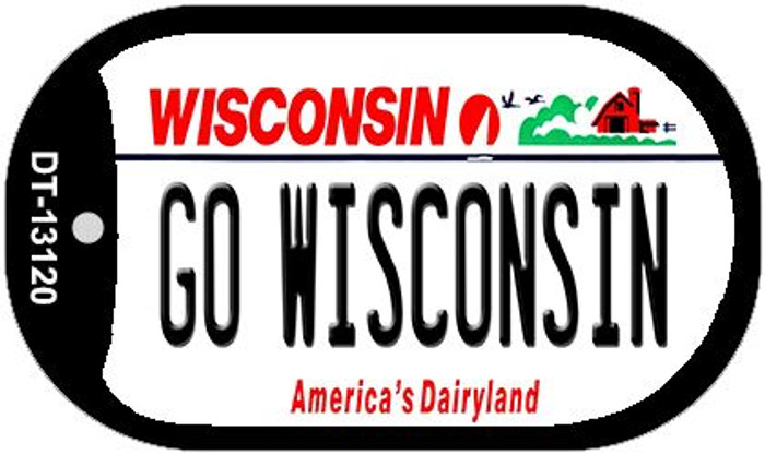 Go Wisconsin Novelty Metal Dog Tag Necklace DT-13120