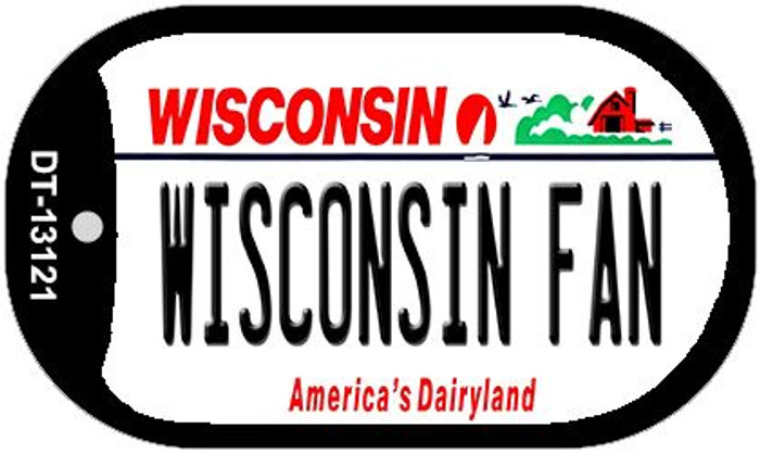 Wisconsin Fan Novelty Metal Dog Tag Necklace DT-13121