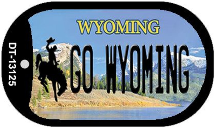 Go Wyoming Novelty Metal Dog Tag Necklace DT-13125