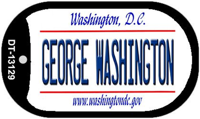 George Washington Novelty Metal Dog Tag Necklace DT-13129
