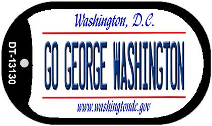 Go George Washington Novelty Metal Dog Tag Necklace DT-13130