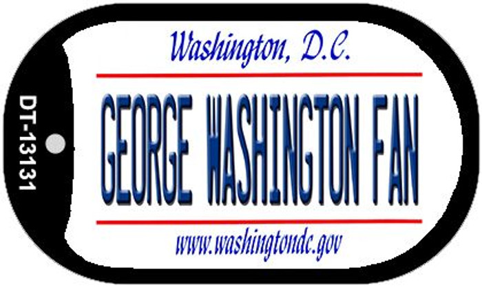 George Washington Fan Novelty Metal Dog Tag Necklace DT-13131