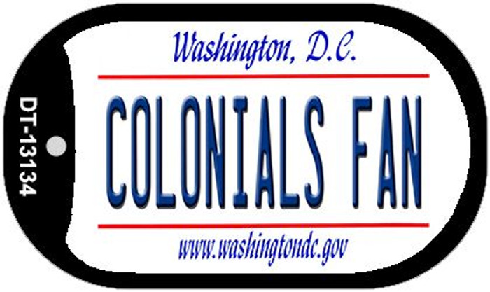 Colonials Fan Novelty Metal Dog Tag Necklace DT-13134
