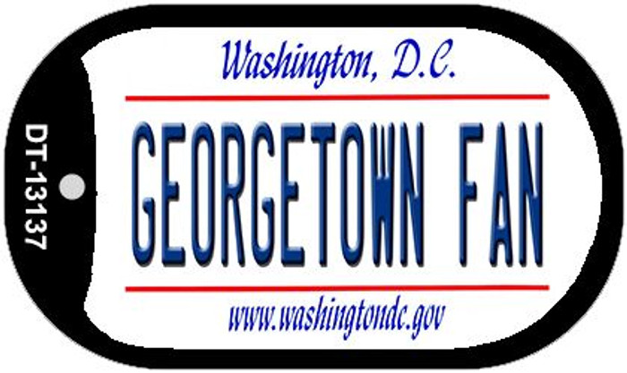Georgetown Fan Novelty Metal Dog Tag Necklace DT-13137