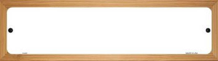 White Dye Sublimation Novelty Wood Mounted Metal Small Street Sign WB-K-000