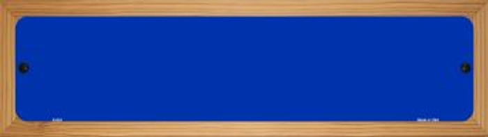 Blue Solid Blank Novelty Wood Mounted Metal Small Street Sign WB-K-024