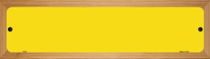 Yellow Solid Blank Novelty Wood Mounted Metal Small Street Sign WB-K-025