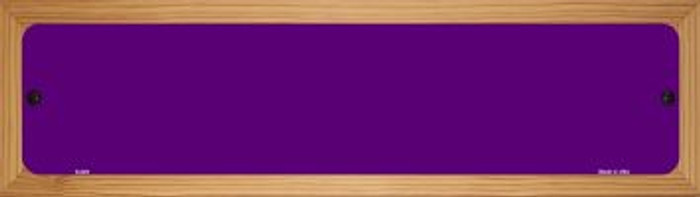 Purple Solid Blank Novelty Wood Mounted Metal Mini Street Sign WB-K-029