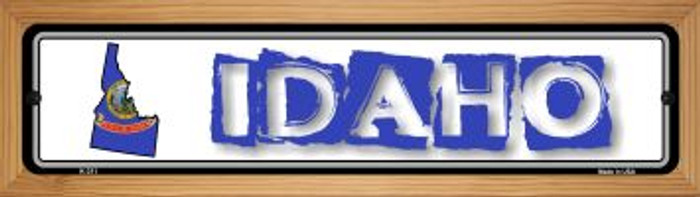 Idaho State Outline Novelty Wood Mounted Metal Small Street Sign WB-K-311