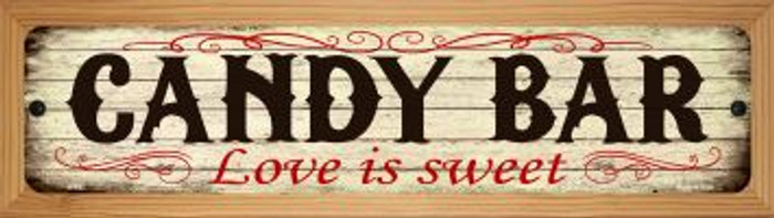 Candy Bar Novelty Wood Mounted Metal Small Street Sign WB-K-493
