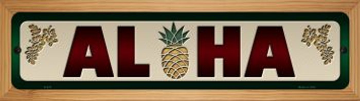 Aloha Novelty Wood Mounted Metal Small Street Sign WB-K-576
