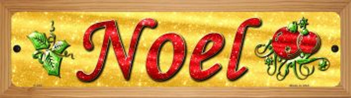 Noel Novelty Wood Mounted Metal Small Street Sign WB-K-653
