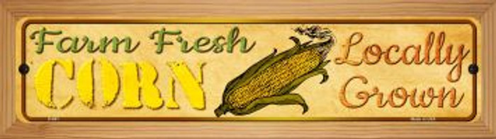Farm Fresh Corn Novelty Wood Mounted Metal Mini Street Sign WB-K-661