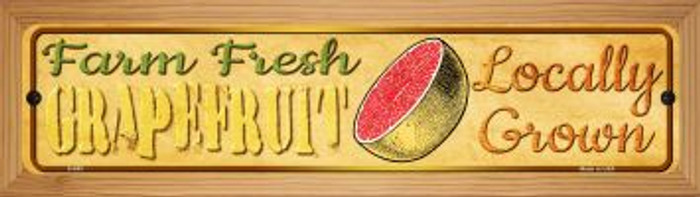 Farm Fresh Grapefruit Novelty Wood Mounted Metal Mini Street Sign WB-K-683