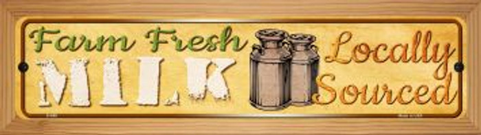 Farm Fresh Milk Novelty Wood Mounted Metal Mini Street Sign WB-K-689