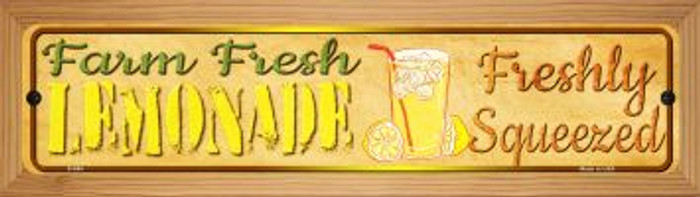 Farm Fresh Lemonade Novelty Wood Mounted Metal Mini Street Sign WB-K-694