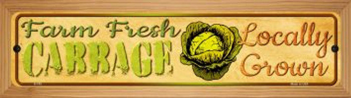 Farm Fresh Cabbage Novelty Wood Mounted Metal Small Street Sign WB-K-703