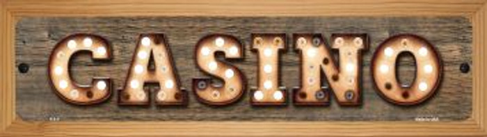 Casino Novelty Wood Mounted Metal Small Street Sign WB-K-811