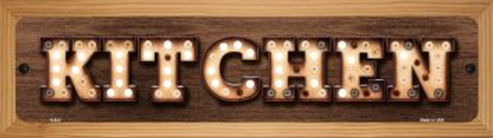 Kitchen Novelty Wood Mounted Metal Mini Street Sign WB-K-823