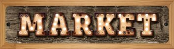 Market Novelty Wood Mounted Metal Small Street Sign WB-K-828