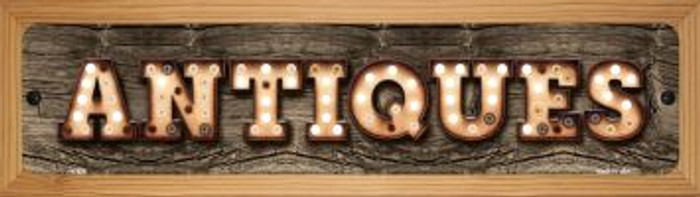 Antiques Novelty Wood Mounted Metal Mini Street Sign WB-K-829