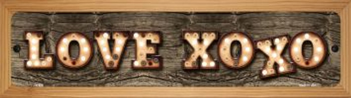 Love XOXO Novelty Wood Mounted Metal Mini Street Sign WB-K-832