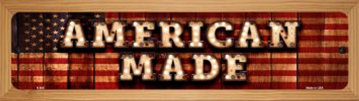 American Made Novelty Wood Mounted Metal Mini Street Sign WB-K-846