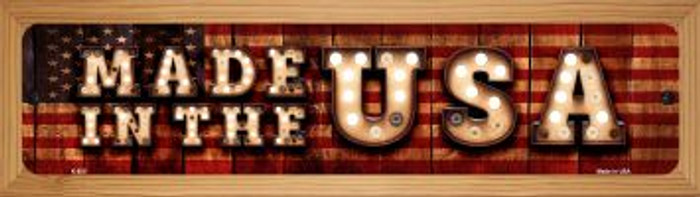 Made in the USA Novelty Wood Mounted Metal Small Street Sign WB-K-850