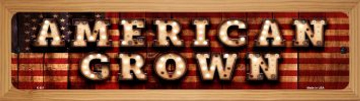 American Grown Novelty Wood Mounted Metal Mini Street Sign WB-K-851