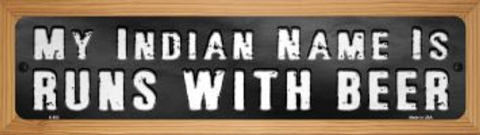 My Indian Name Novelty Wood Mounted Metal Mini Street Sign WB-K-893
