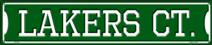 Lakers Ct Metal Novelty Street Sign ST-1018