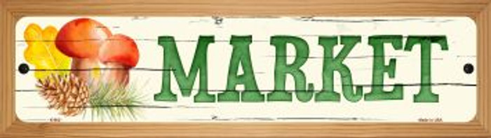 Market Novelty Wood Mounted Metal Small Street Sign WB-K-902